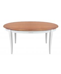 Ovaler Holztisch ausziehbar 160cm