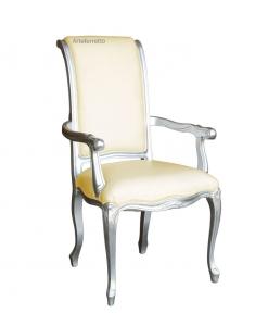 Klassischer Stuhl silber
