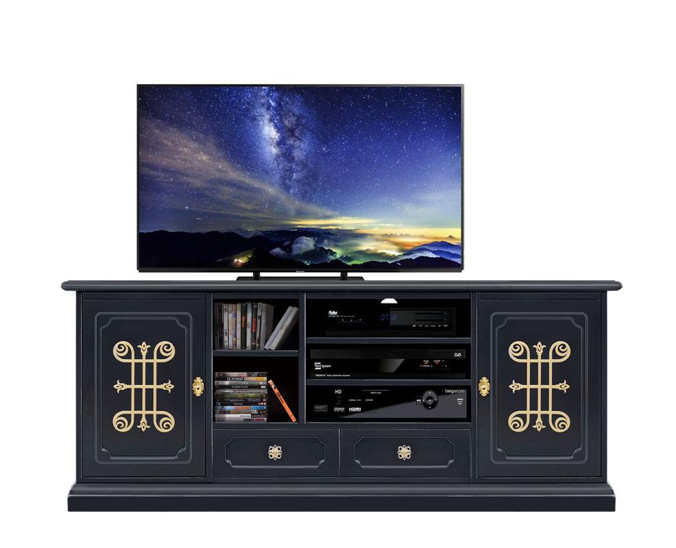 TV-Möbel 160 cm Schwarz \