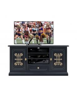 Schwarzer TV Schrank, Schwarze Möbel klassischer Stil