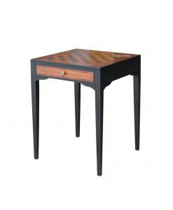 Schachbrett-Tisch, Schachbrett aus Holz