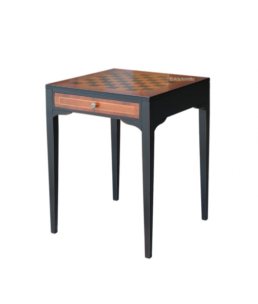 Schachbrett-Tisch 2 Farben, Art.-Nr.  13065-BIC