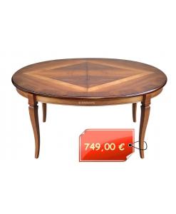 ovaler Esstisch klassisch, Esstisch mit Intarsie