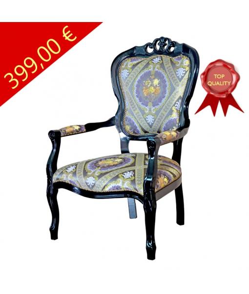 Klassischer Sessel schwarz, Art.-Nr. FR-51N-promo
