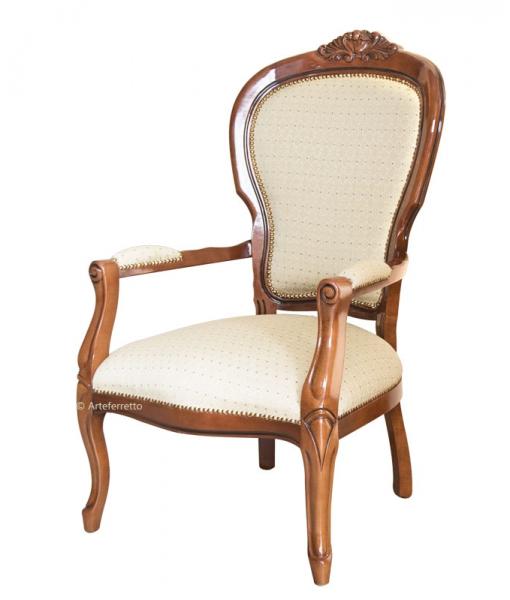 klassischer Sessel mit Schnitzarbeit, Art.-Nr. FL-B02