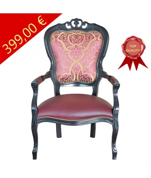 Schwarzer Sessel klassisch, Art.-Nr. FR-52N
