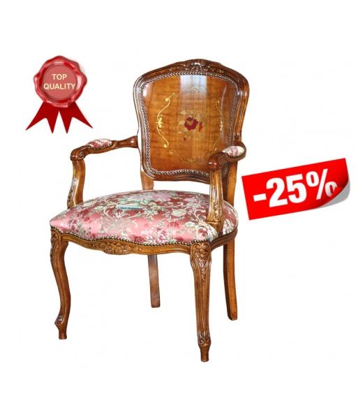 Klassischer Sessel Blumenmotiv, Art.-Nr. GM-330-PLUS