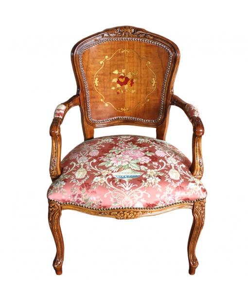Klassischer Sessel Blumenmotiv
