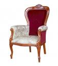 Klassischer Sessel Samt und Stoff
