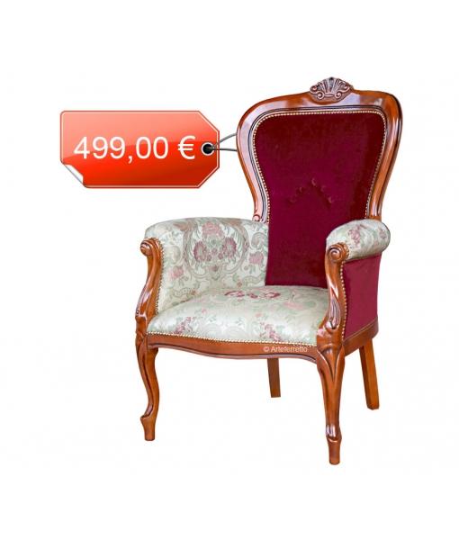 Klassischer Sessel Samt und Stoff, Art.-Nr. GM-4BIC-OFF