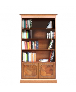 Bücherregal Wurzelholz klassisch mit Türen