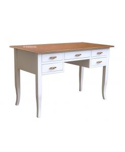 Schreibtisch 5 Schubladen, Schrebtisch aus Holz