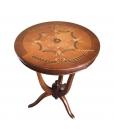 eingelegter Couchtisch rund